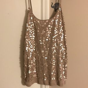 Old Navy sequin tank top size XL